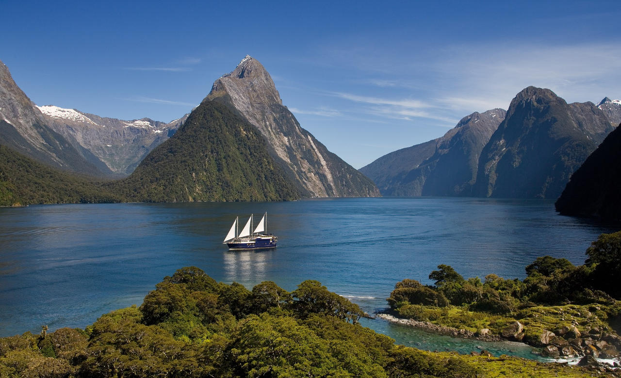 Take a boat tour of Milford Sound